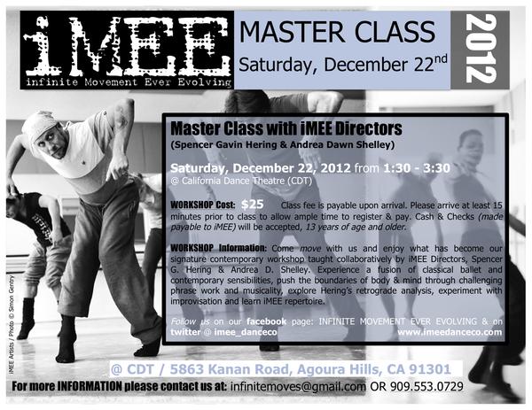 iMEE Master Class CDT 2